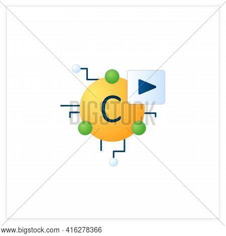 Cryptomedia Flat Icon. Digital Medium Graphics, Audio.video, Plain Text, Hyperlinks.universally Acce