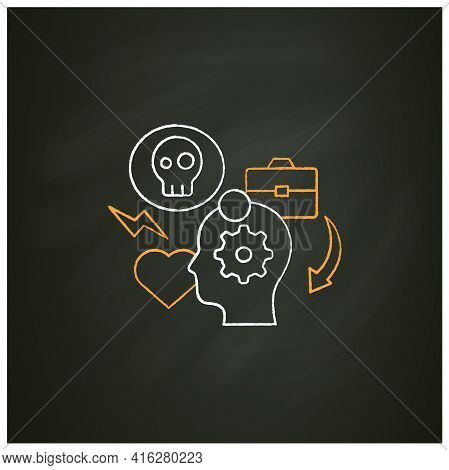 Stress Management Chalk Icon.controlling Person Stress Level. Avoid Stressful Situations. Conflict M