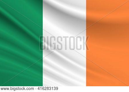 Flag Of Ireland Fabric Texture Of The Flag Of Ireland.