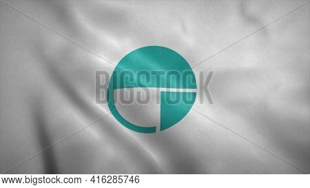 Nagano Flag, City Of Japan. 3d Illustration.