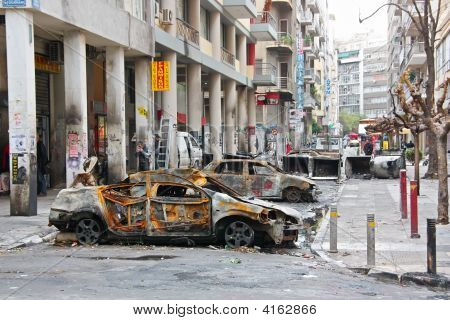 Athens Street After Riots