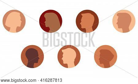 Social Network Avatars - Avatars Of Various Men And Women. The Participants Of The Chat. Chatting Wi