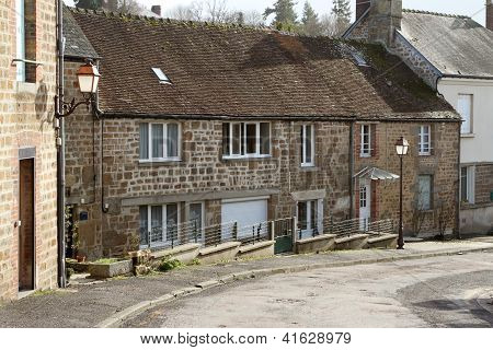 French Stone Cottages Street Scene