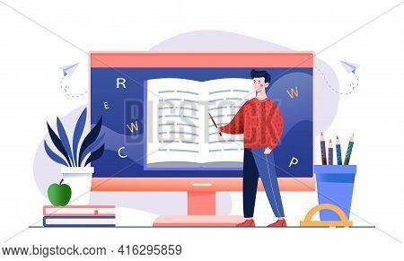 E Learning English Language Tutoring, Online Library, Curriculum, Educational Webinar, Personal Tuto