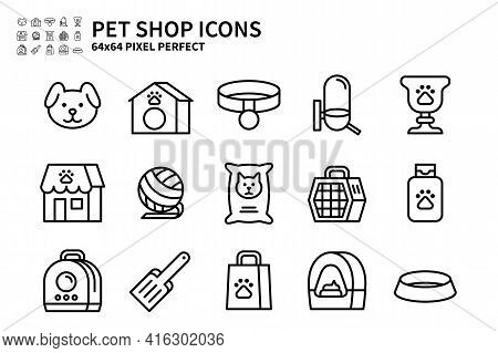 Simple Set Of Pet Shop Vector Line Filled Color Icons. Contains Icons Like Dog Head, Pet Trophy, Pet
