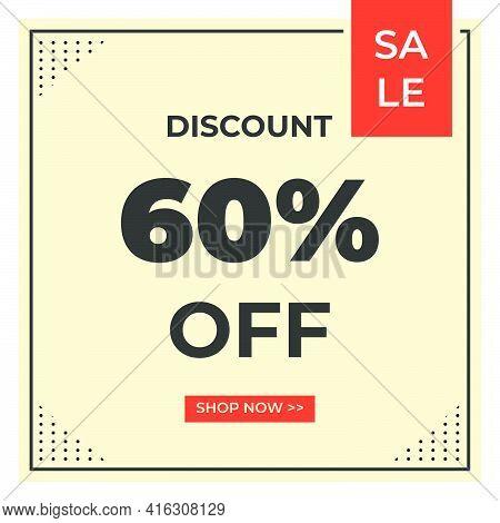 Sale Discount Banner Template Design. Special Offer, Mega Sale, Big Sale For Web And Social Media Ma
