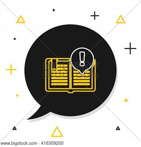 Line Interesting Facts Icon Isolated On White Background. Book Or Article Sign. Exclamation Mark Sig