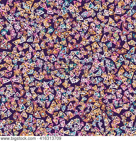 Colorful Triangular Shapes Toss Seamless Vector Pattern