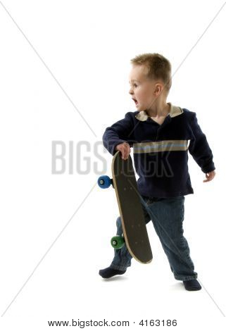 Little Boy Skateboarder