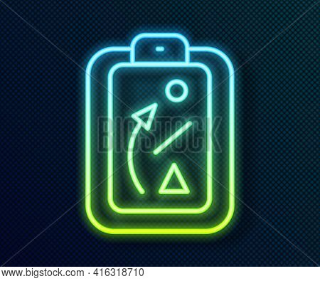 Glowing Neon Line Planning Strategy Concept Icon Isolated On Black Background. Baseball Cup Formatio