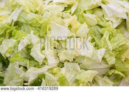 Chinese Napa Cabbage Cut Into Pieces