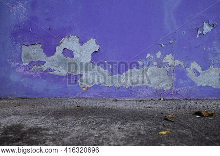 The Paint Is Peeling Off The Walls. Dirty Wall.