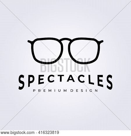 Modern Spectacles Glasses Logo Icon Symbol Vector Sign Label Illustration Design Spectacles Store Sh