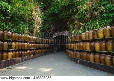 Entrance Of Tunnel Eighty Eight At Nangan Island, Matsu, Taiwan. Translation: Tunnel Eighty Eight