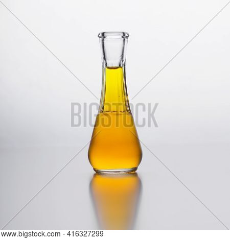 Plum Brandy In Small Glass Bottle. Traditional Serbian Schnapps.