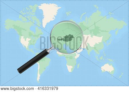 Map Of The World With A Magnifying Glass On A Map Of Austria Detailed Map Of Austria And Neighboring