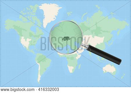 Map Of The World With A Magnifying Glass On A Map Of Switzerland Detailed Map Of Switzerland And Nei