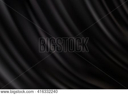 Abstract Black Silk Cloth Background.drapery Black Background