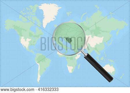 Map Of The World With A Magnifying Glass On A Map Of Bosnia And Herzegovina Detailed Map Of Bosnia A