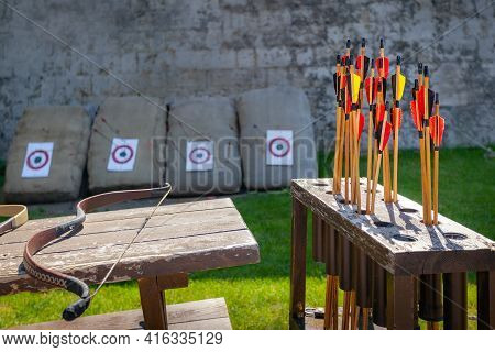 Arrows And Bow, Place For Shooting From Bow Entertainment