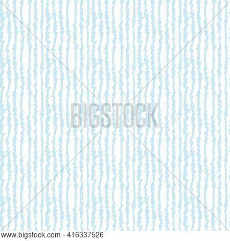 Seamless Endless Pattern Of Hand Drawn Lines Of Blue Color For Fabric Sites