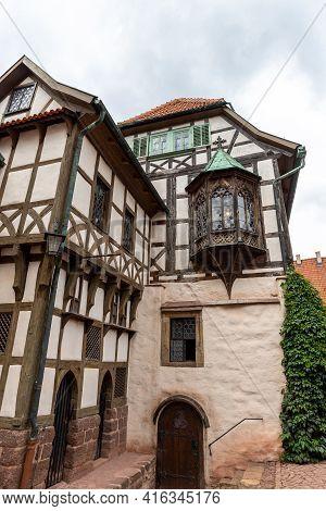 Half-timbered Houses At Castle Wartburg Near Eisenach, Thuringia