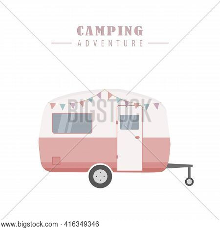 Camper Summer Holiday On A Road Trip