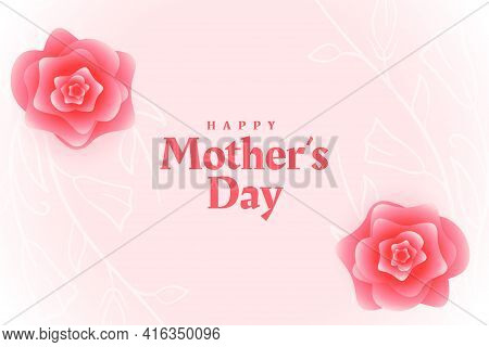 Happy Mothers Day Flower Decorative Card Design