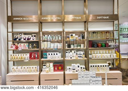 KUALA LUMPUR, MALAYSIA - CIRCA JANUARY, 2020: interior shot of KENS apothecary store at Suria KLCC shopping mall in Kuala Lumpur.