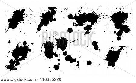 Set Of Ink Splat Stain Texture Design