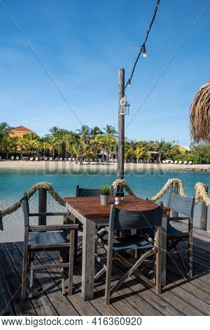 Mambo Beach On The Caribbean Island Of Curacao, Beautiful White Beach Curacao Caribbean