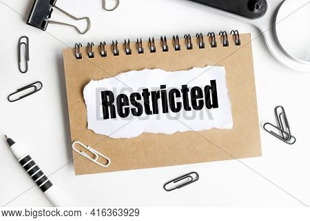 Restricted. The Concept Of Restricting Travel Abroad, Restricting Communication