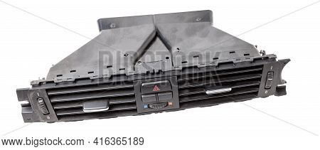 Close-up On A Part Of The Interior Of A Modern Car With A View Of The  Central Ventilation Deflector