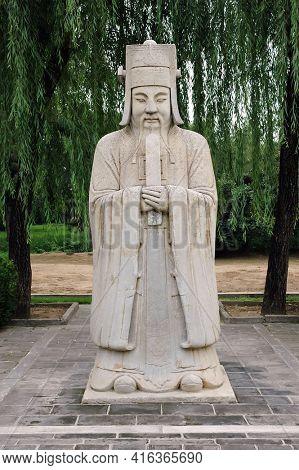 BEIJING, CHINA - 3 JUL 2006: Statue, Avenue of the Animals, Beijing, China