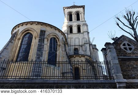 The Church Of Saint Peter Of Montmartre Is The Oldest Surviving Church In Paris. France.