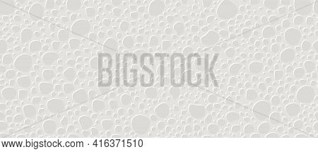 White Foam Plastic Texture Background. Styrofoam Seamless Pattern. Vector