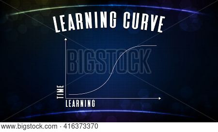 Abstract Blue Backgroud Of Learning Curve Graph