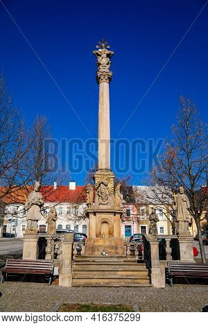 Holy Trinity Column, Baroque Sculptural Group, Main Square, Old Town, Medieval Renaissance And Baroq