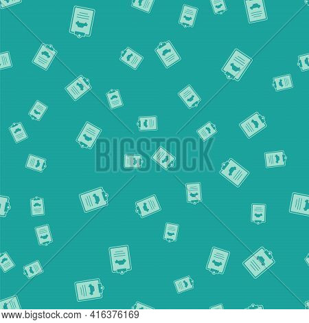 Green Car Inspection Icon Isolated Seamless Pattern On Green Background. Car Service. Vector