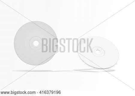 Cd Or Dvd Mockup Isolated On White - 3d Render