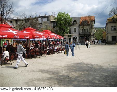 Cetinje, Montenegro - April 29, 2008: Cetinje Is A City In Montenegro Founded In 1482. The Historica