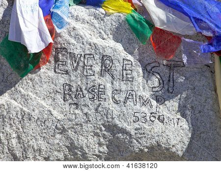 Mount Everest Base Camp Sign, Nepal