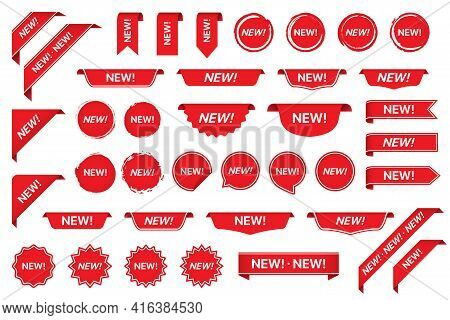 New Tag Sticker Labels Collection In Red
