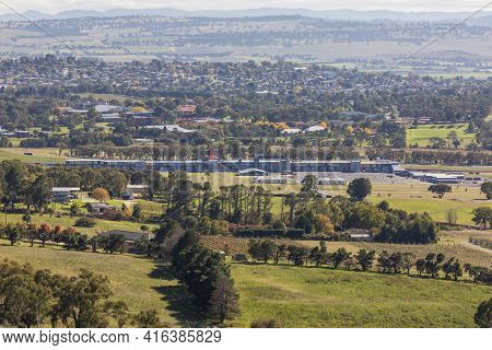 The Back Of Pit Lane At The Mount Panorama Racetrack In Bathurst In Regional New South Wales In Aust