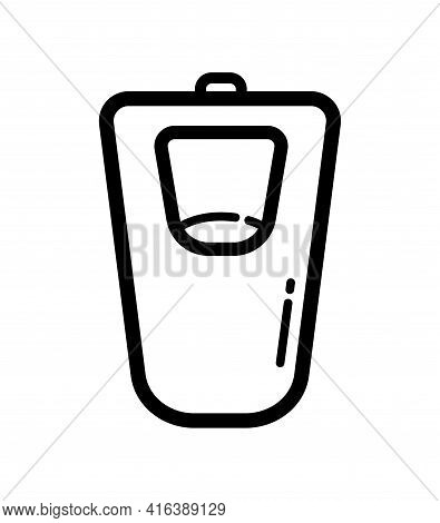 Urinal Outline Icon Isolated On White Background. Vector Sign, Symbol For Web And Mobile.