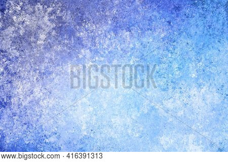 Blue White Turquoise Purple Antique Old Background With Blur, Gradient And Watercolor Texture. Space