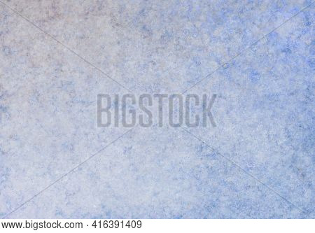 Blue White Beige Antique Old Background With Blur, Gradient And Watercolor Texture. Space For Artist