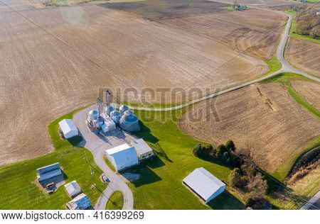 Granary Elevator Agro Processing Silos For Storage And Drying Of Grains Of Agricultural Products, Fl