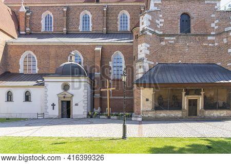 Krakow Poland August 2020. The Corpus Christi Church, Krakow, Lesser Poland, Poland