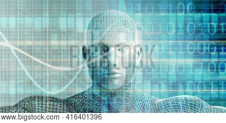 Robotic Process Automation or RPA Business Technology 3d Render